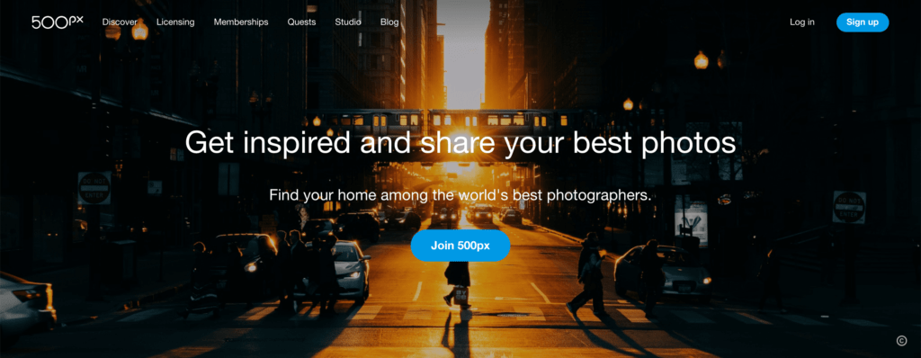 Sell photos on the 500px platform