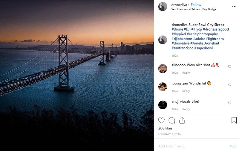 social media drone example