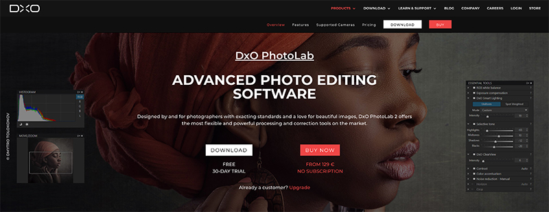 DxO Lab Photo Editing Software