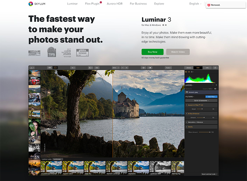 Luminar Photo Editing Software