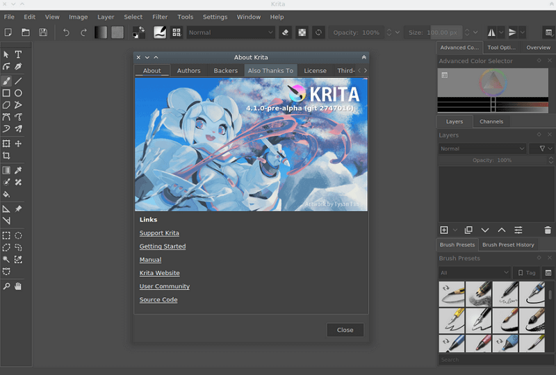 Krita is an up and coming free Photoshop alternative