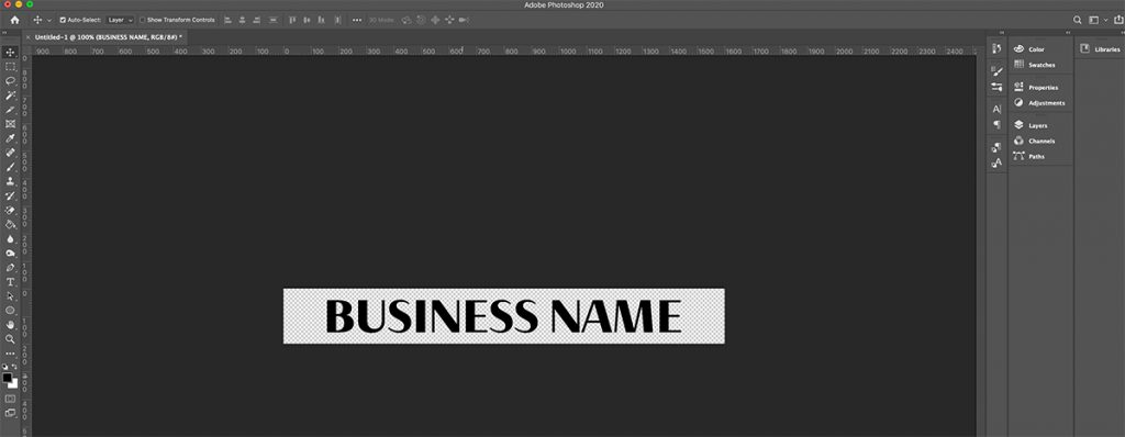 Adding your business name