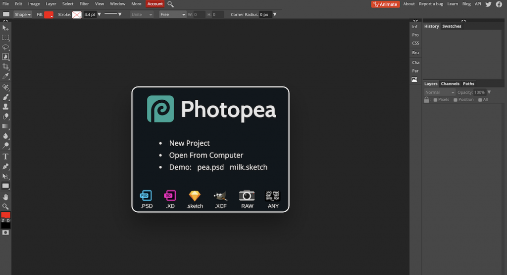 Photopea Photoshop Alternative Online Photo Editor