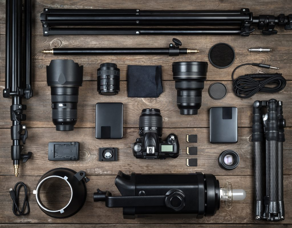 Freelance photography equipment
