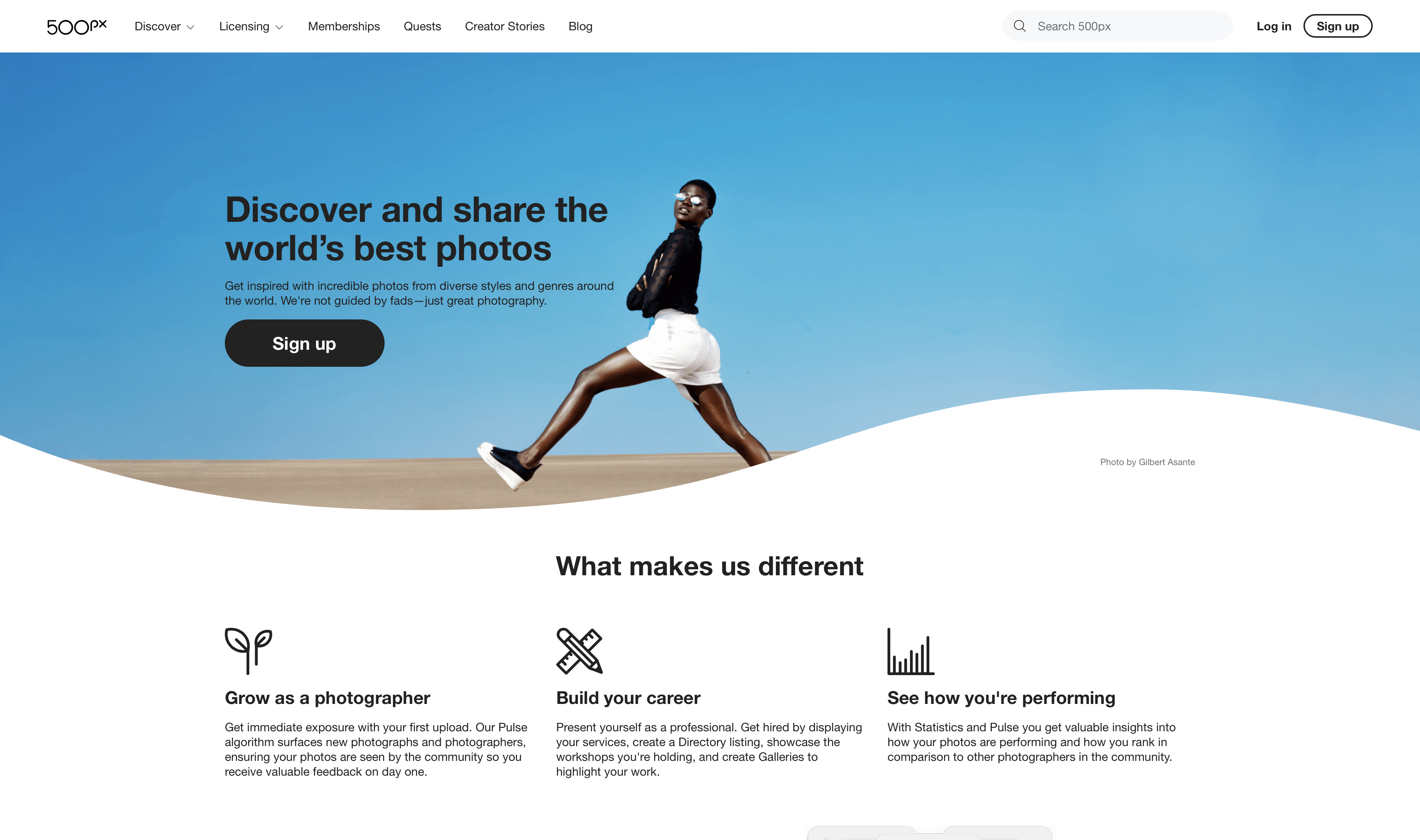 Sell your photos online with 500px