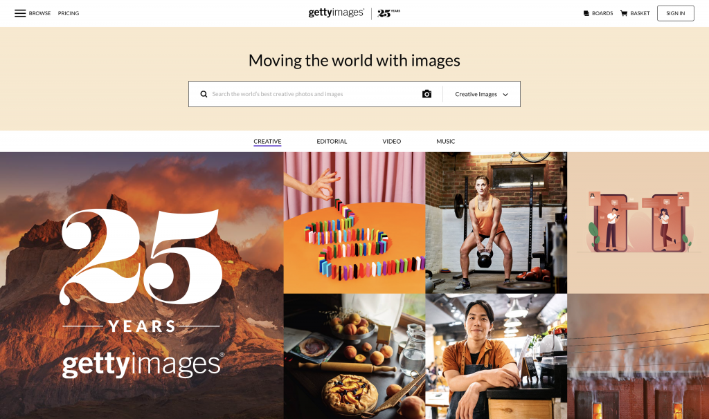 Selling with Getty Images