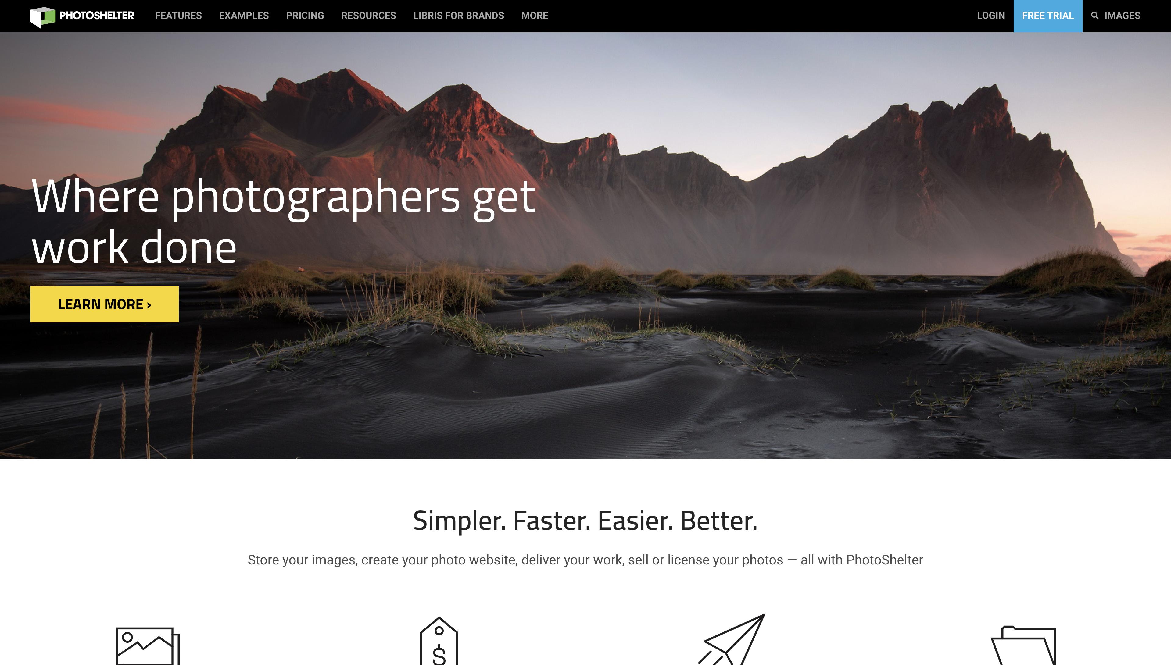 PhotoShelter Website Builder
