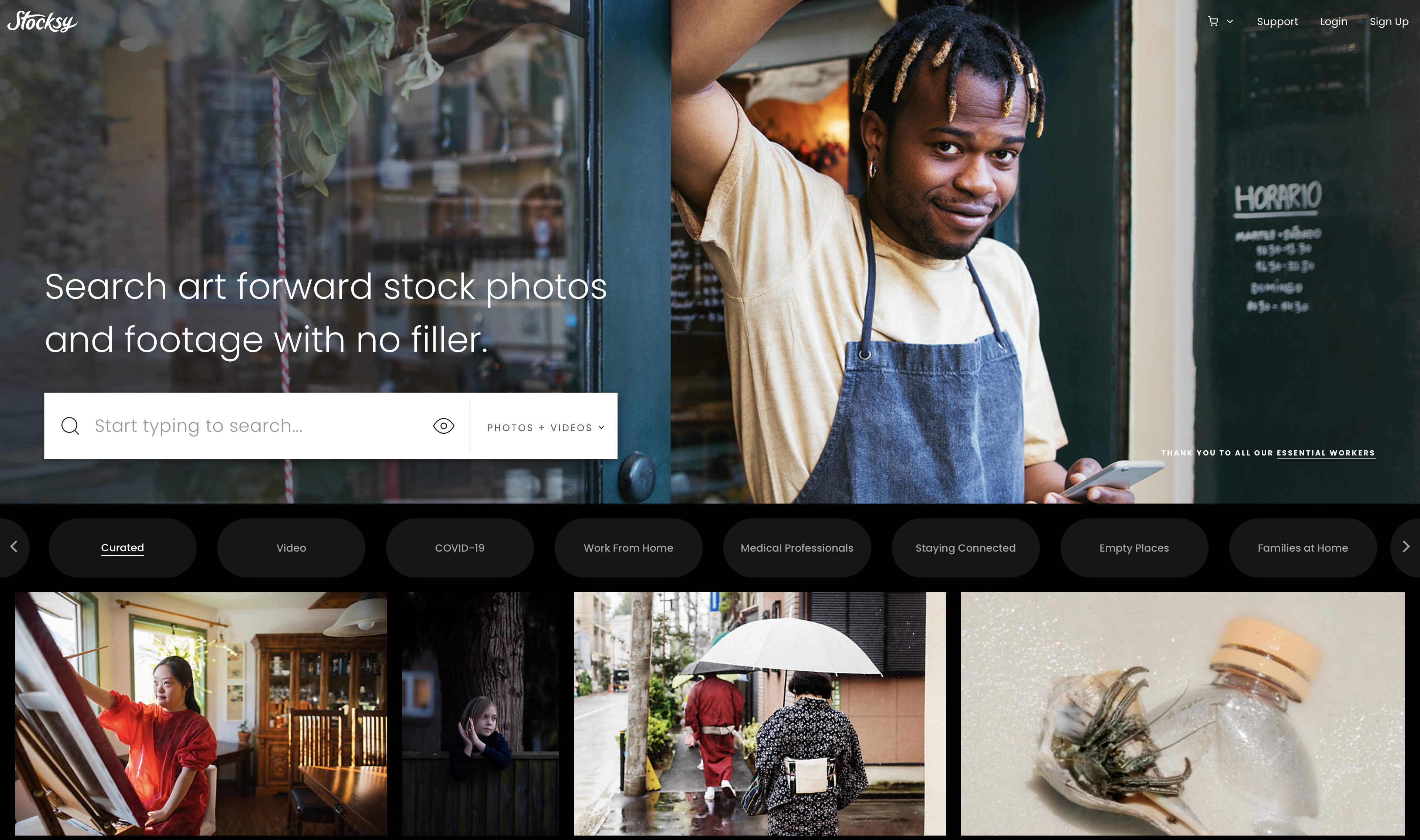 Sell photos online with Stocksy