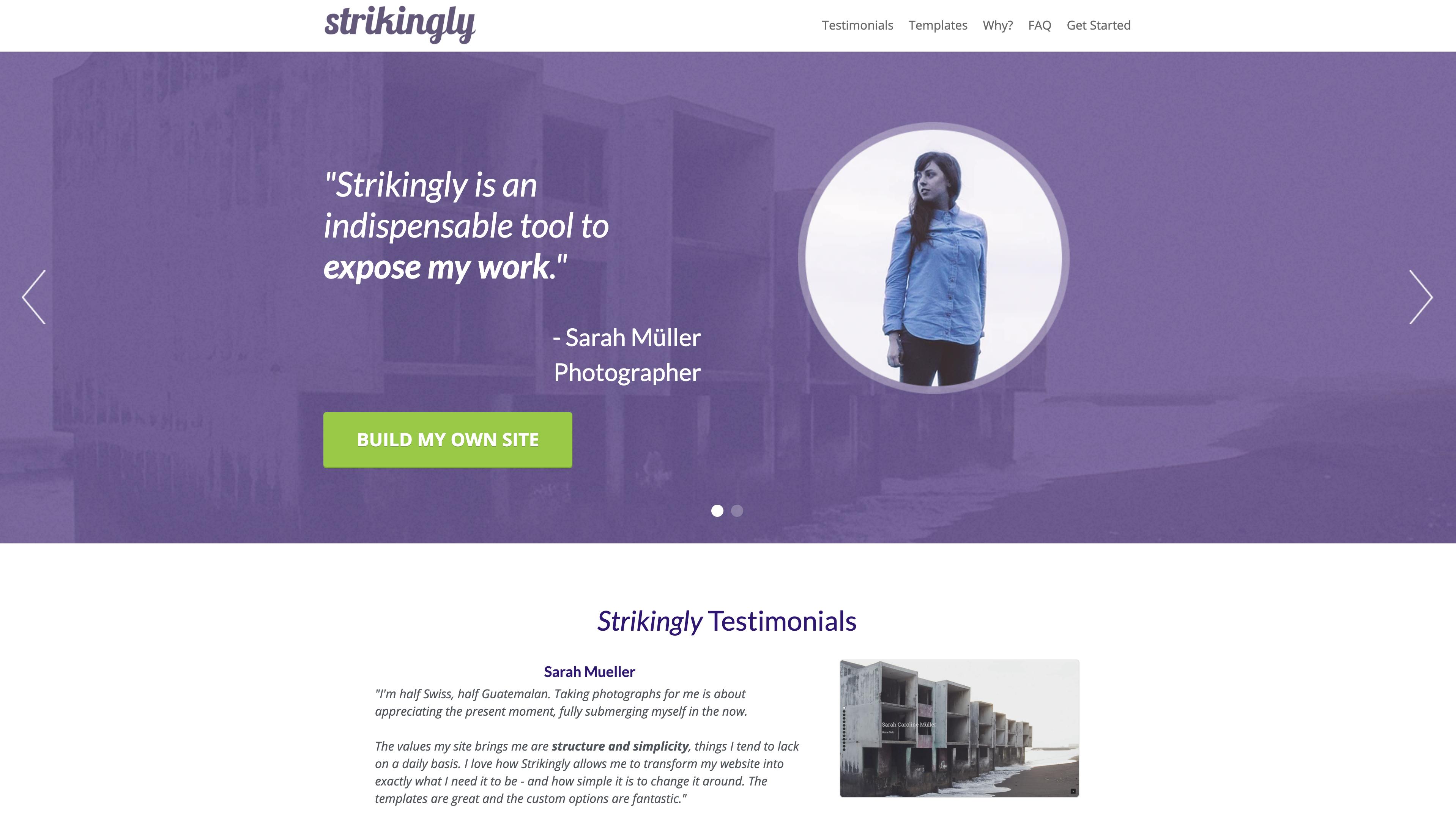 Strikingly Website Builder
