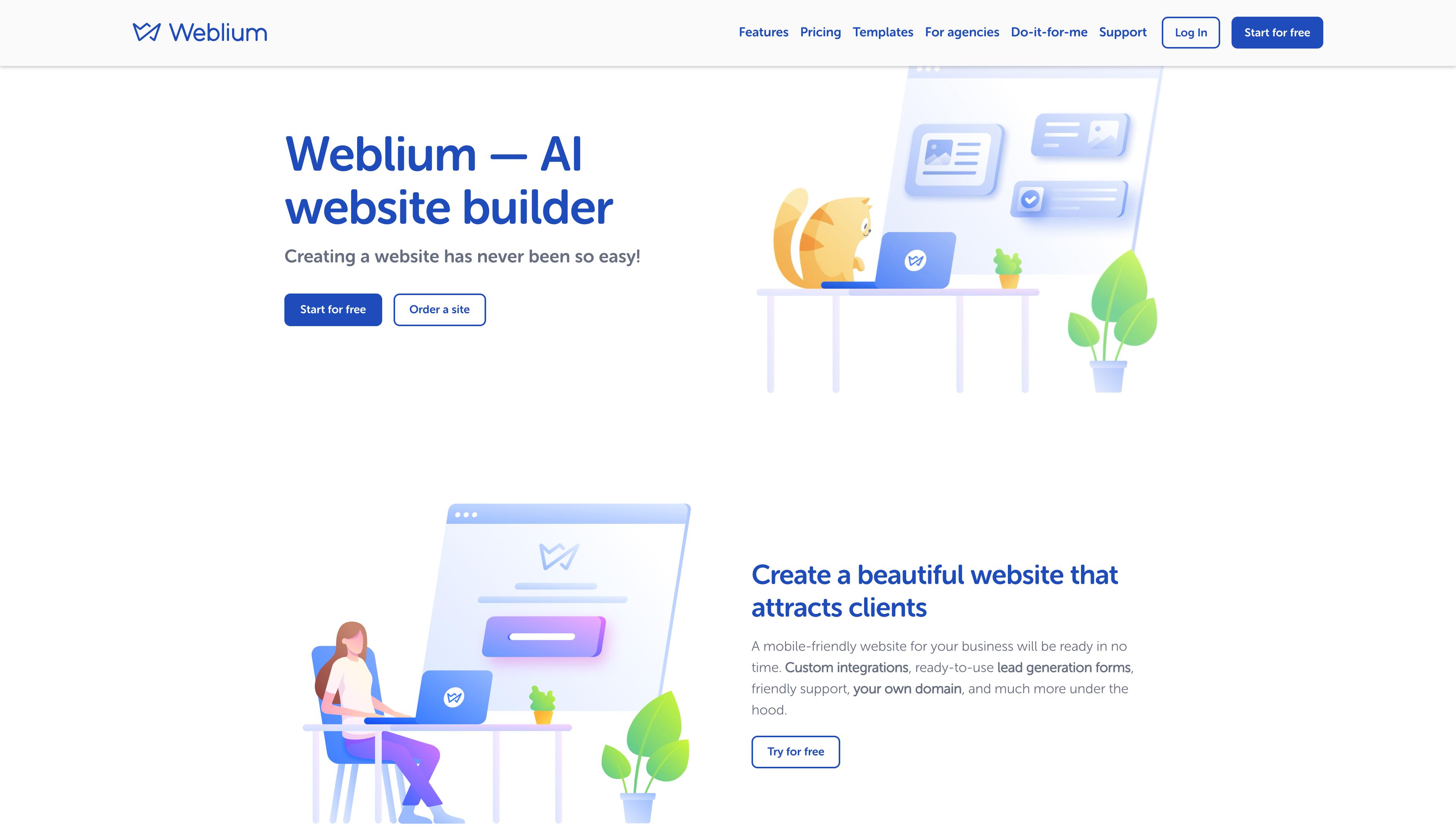 Weblium Website Builder