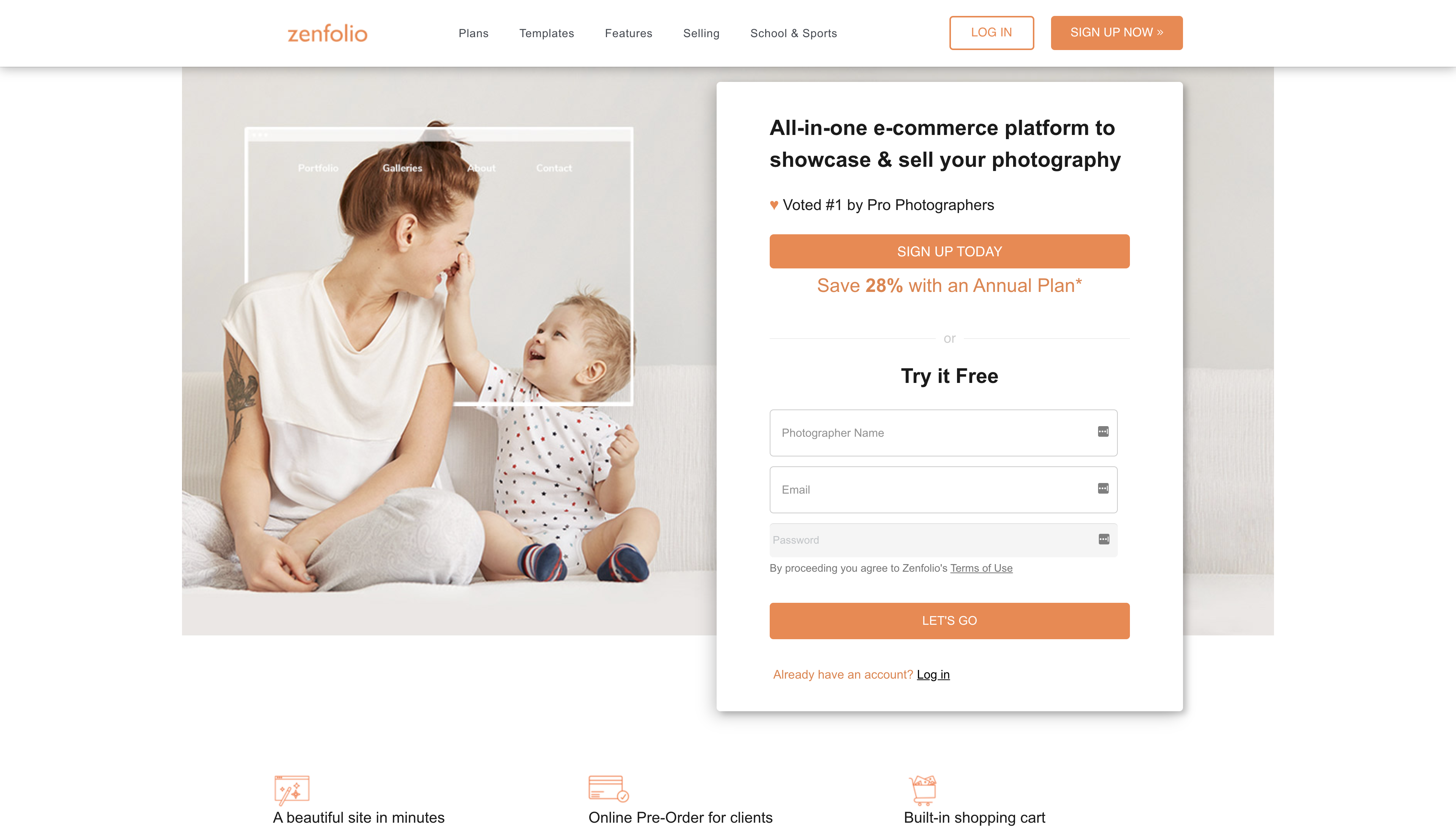 Zenfolio Website Builder
