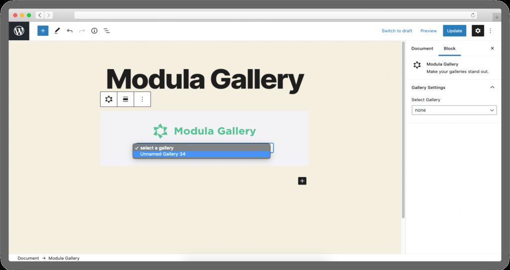 default gallery title