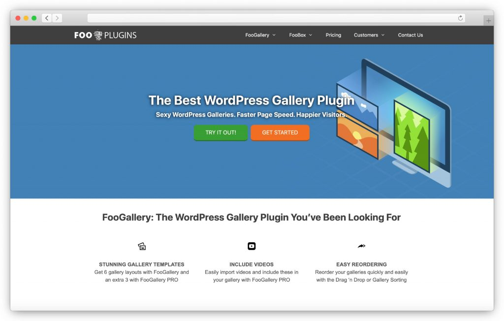 FooGallery interface - WP gallery plugin
