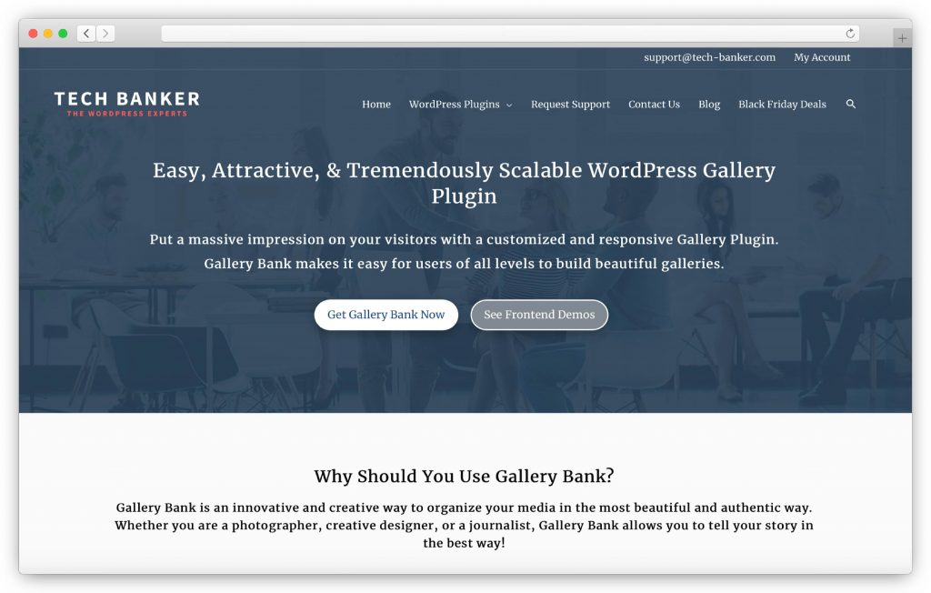 Gallery Bank interface - WP gallery plugin