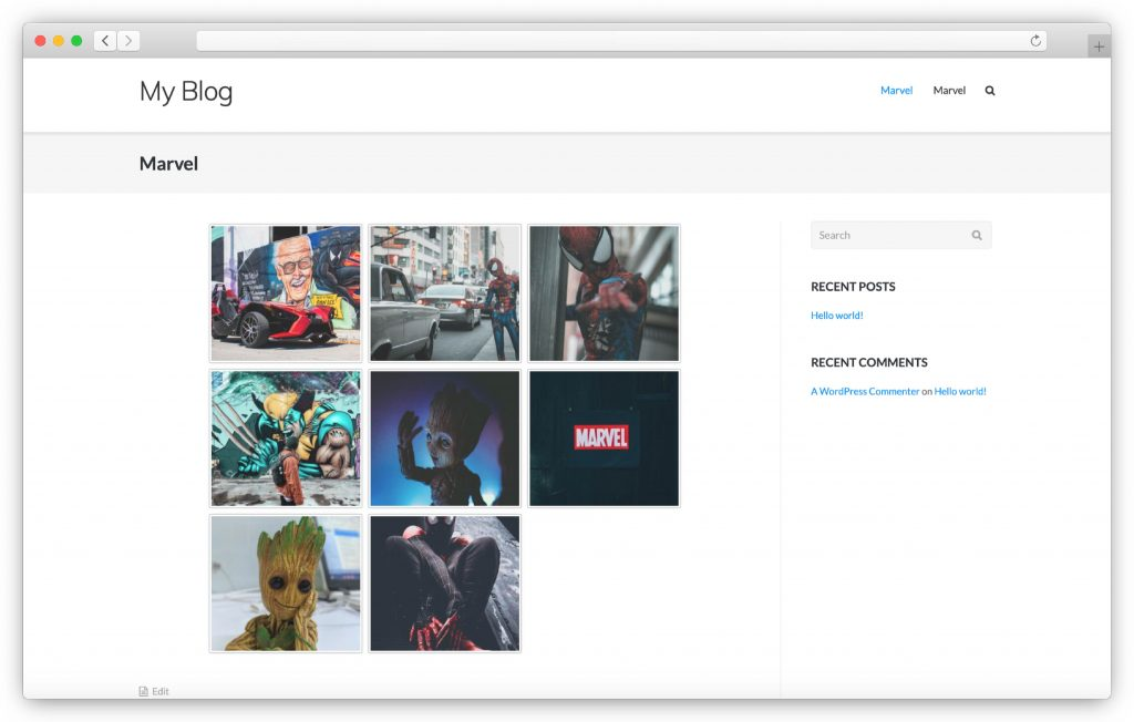 image gallery interface - WP gallery plugin