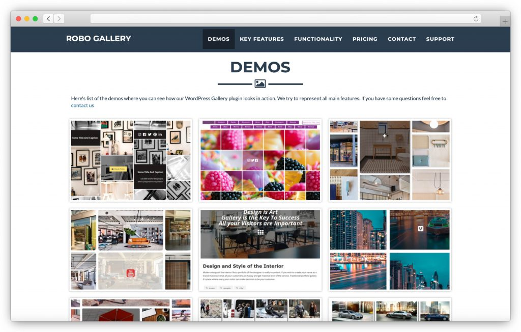RoboGallery interface - WP gallery plugin