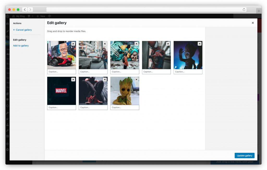 upload your images - WP gallery plugin