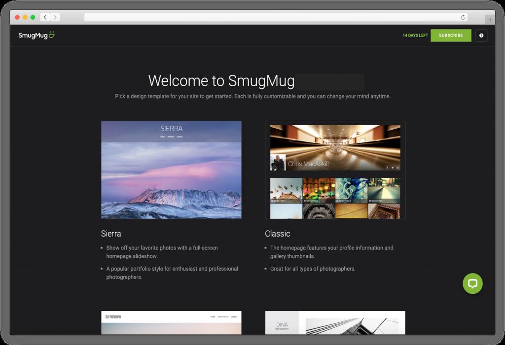 Smugmug templates