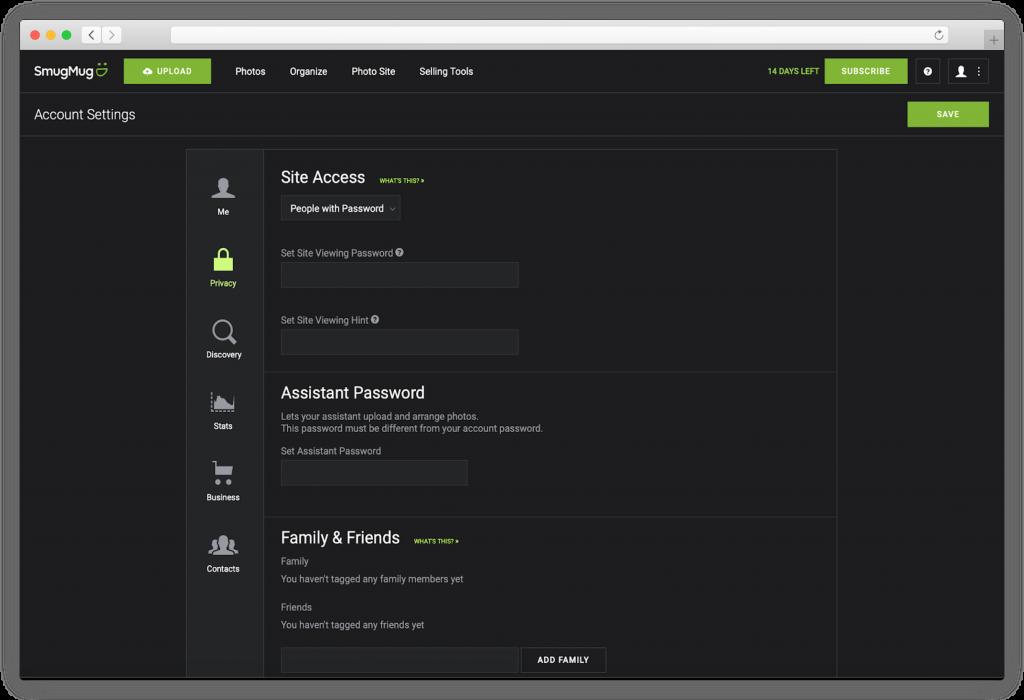 Smugmug - make your website secure