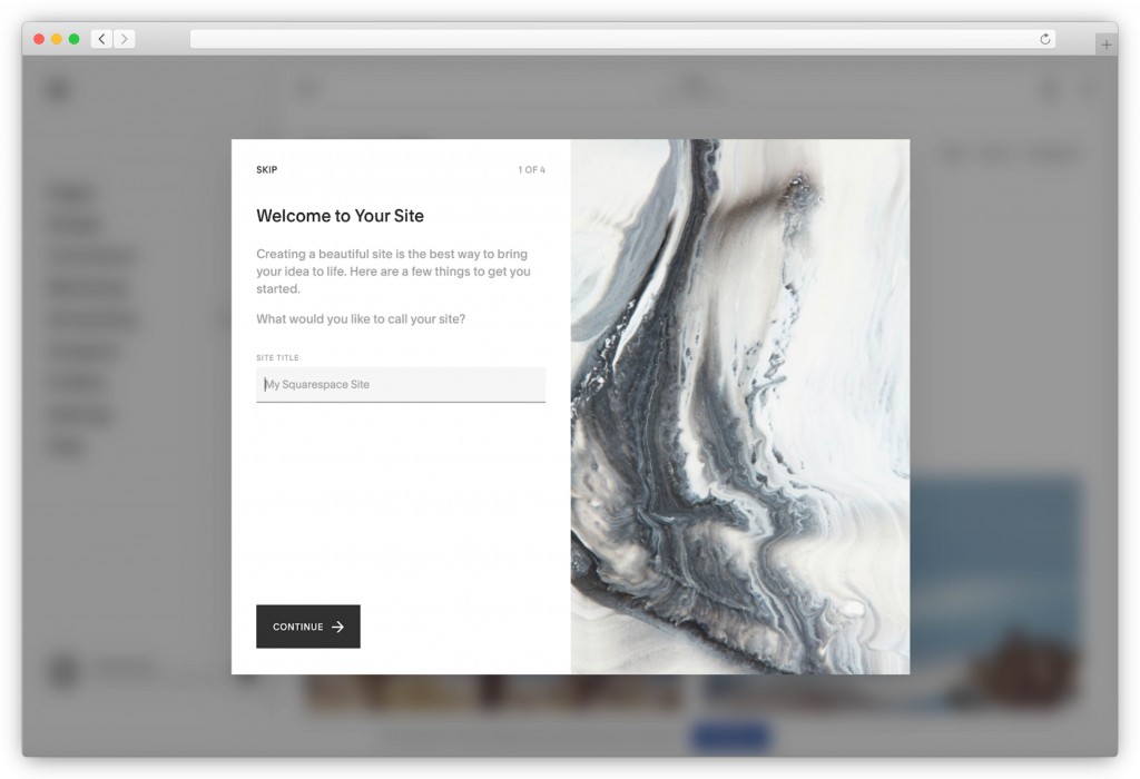 Squarespace - give your website a name