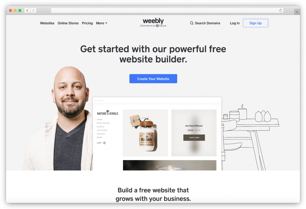 Weebly - website builder for photographers