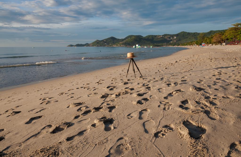 tripod on a beach