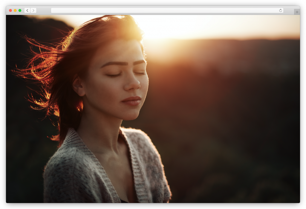 Portrait of a woman during golden hour