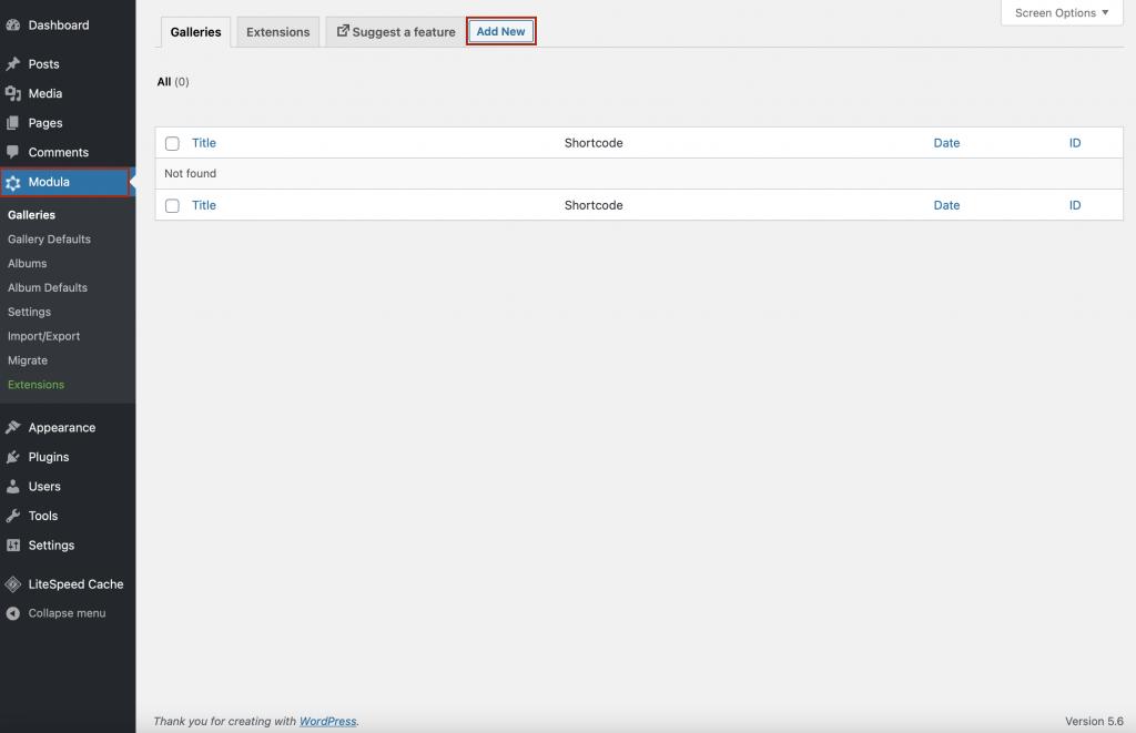Create your WordPress image carousel