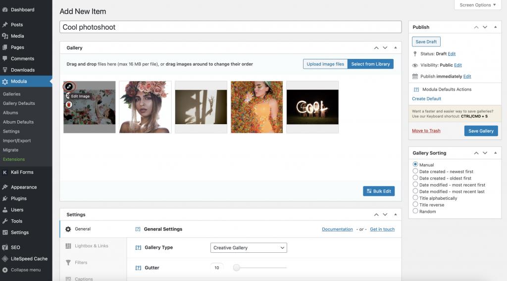 WordPress Youtube gallery