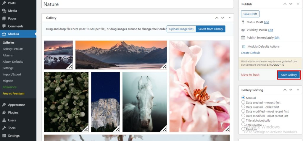 save your online photo gallery