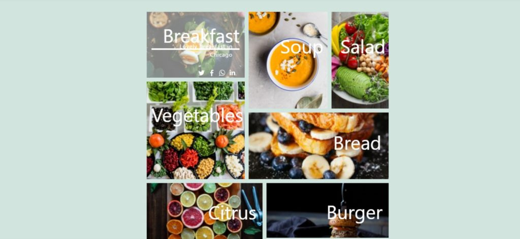 food gallery example