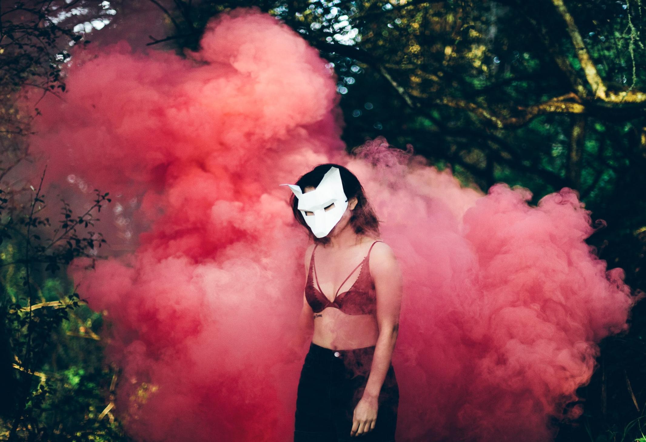 smoke bomb photography