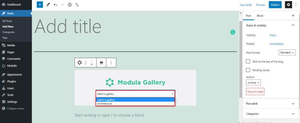 choose gallery